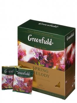 Чай черный Greenfield Spring Melody (Гринфилд Спринг Мелоди), упаковка 100 пакетиков