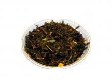 Чай зеленый Лимон с женьшенем, упаковка 500 г, крупнолистовой ароматизированный чай