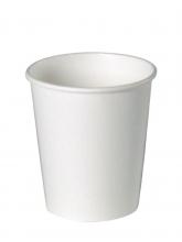 Стакан картонный одинарный под горячие напитки, Белый, 250 мл, 50 шт./упак.