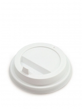 Крышка для картонных стаканов, Белая, 80 мм, 100 шт./упак.