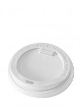 Крышка для картонных стаканов, Белая, 73 мм, 100 шт./упак.