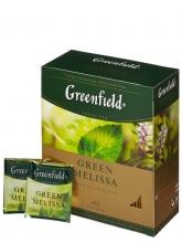 Чай зеленый Greenfield Green Melissa (Гринфилд Грин Мелисса), упаковка 100 пакетиков