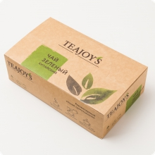 Чай зеленый TEAJOYS (ТиДжойс), упаковка 100 саше по 2 г, китайский байховый