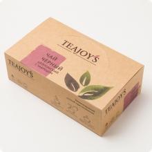 Чай черный TEAJOYS (ТиДжойс), упаковка 100 саше по 2 г, цейлонский с чабрецом