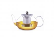 Чайник для чая Ромашка стеклянный, 800 мл