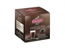 Кофе в капсулах Carraro Cioccolato (Караро Чоколато), упаковка 16 капсул,  формат Dolce Gusto (Дольче Густо)