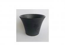 Чашка из глины, глазурованная, черная, 150 мл