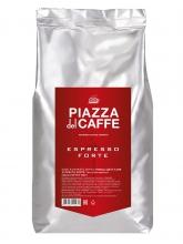 Кофе в зернах Piazza Del Caffe Espresso Forte (Пьяцца Дель Кафе Эспрессо Форте)  1 кг, вакуумная упаковка