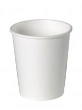 Стакан картонный одинарный под горячие напитки Паперскоп белый, 300 мл, 50 шт./упак.